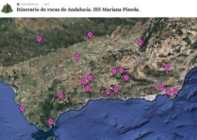 Itinerario de Rocas de Andalucia. IES Mariana Pineda.